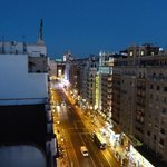View on Gran Via from roof top terrace