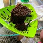 Chocolate cake. Very moist and fresh.