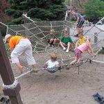 Climbing area near the petting zoo