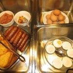 Auswahl vom Frühstücksbüffet