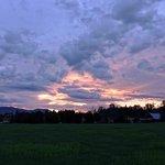 Sonnenuntergang am B&B