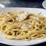 Pollo alla Aglio, creamy garlic, chives and black pepper