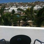 Vista della piscina dal balcone