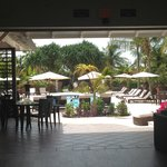 View from Lobby to pool