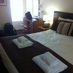 Nice big room, tidy, comfy bed.