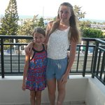 Our girls and our balcony view