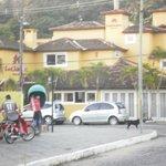 Linda posada frente Plaza Dos Ossos