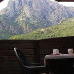 Vue de la terrasse petit déjeuner