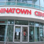 Chinatown Centre exterior / Super 8 entrance on right