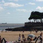 St Palais'beach in August
