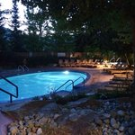 Adult pool area, two spas