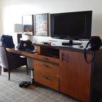 Desk area in room