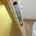 Inexpertly Installed Door Lock