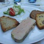 le foie gras de l'entrée
