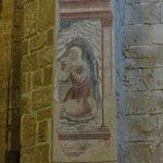Sovana -Particolare di dipinto murale nel Duomo
