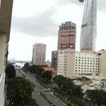 View on the street Ppalace hotel Saigon