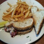 Pastrami and rye. Thick rye bread grilled with gooey swiss cheese.  Looks like a nice place.
