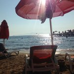 Late afternoon sun on the beach