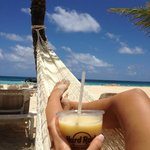 Chilling in a hammock on the beach...