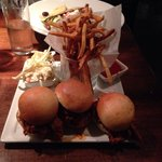 Pulled pork sliders with fries!! Yum Yum what a delicious.