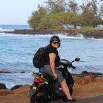 Moped to the Brenecke beach Poipu