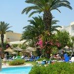 Beautiful gardens surrounding activity pool