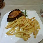 steak with chicken breast and cheese
