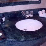 Marble sink counter