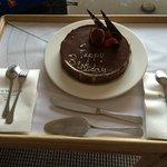 The surprise birthday cake