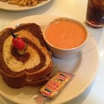 Old School Patty Melt with Tomato Bisque (Oh my God, Bisque is Awesome!!!)