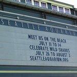 Seattle Aquarium marquis