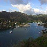View of Marigot Bay from Emerald Hill Villa