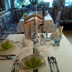 tavolo il giorno di Ferragosto