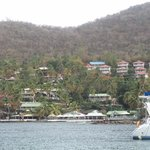 View of Oasis Marigot Resort area from Sail Boat