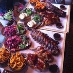 Two sharing platters... Yum!