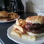 Shaz & Trace 1/2 Pounder + Fill me up with your hot pork big boy 1/2 Pounder + Homemade Chunky C