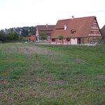 Felder und Häuser