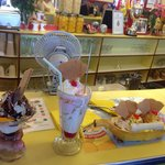 The ice cream trio - chocolate, knickerbocker and banana split