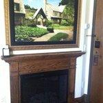 TV hidden behind picture