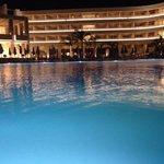 Pool in night