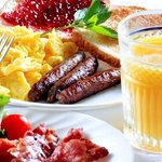 Complimentary breakfast is served each morning.