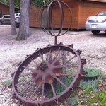 Lots of cool rustic sculpture