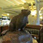 Majestic Beaver In Bow Valley Grill