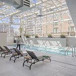 Relax & unwind at our sky-lit Pool, and get some energy on our sundeck or at one of the saunas!