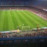 Pendant le match FC Barcelone-Camp Léon FC! Trophée Joan Gamper le 18 août 2014 score 6-0 pour l