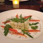 Jicama salad from the Vegetarian menu