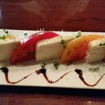 Heirloom tomatoes with house-made mozzarella and 18 year balsamic vinegar