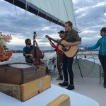 The Pete Miller band was a wonderful treat during our sunset sail on the Frances.