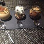 Trio shot desserts
