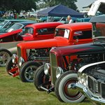 Privately-owned vintage car show on the grounds